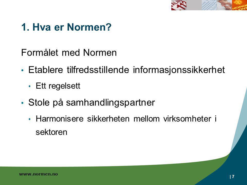 1. Hva er Normen Formålet med Normen