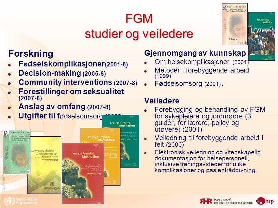 FGM studier og veiledere