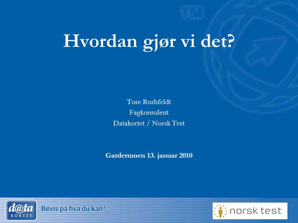Datakortet / Norsk Test