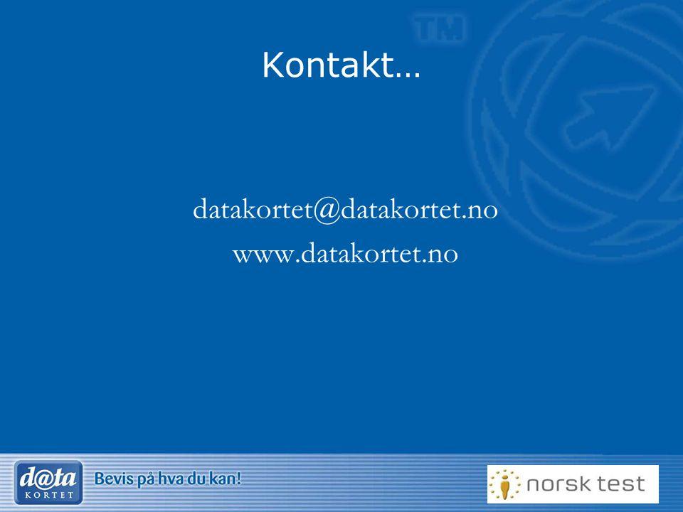 datakortet@datakortet.no www.datakortet.no