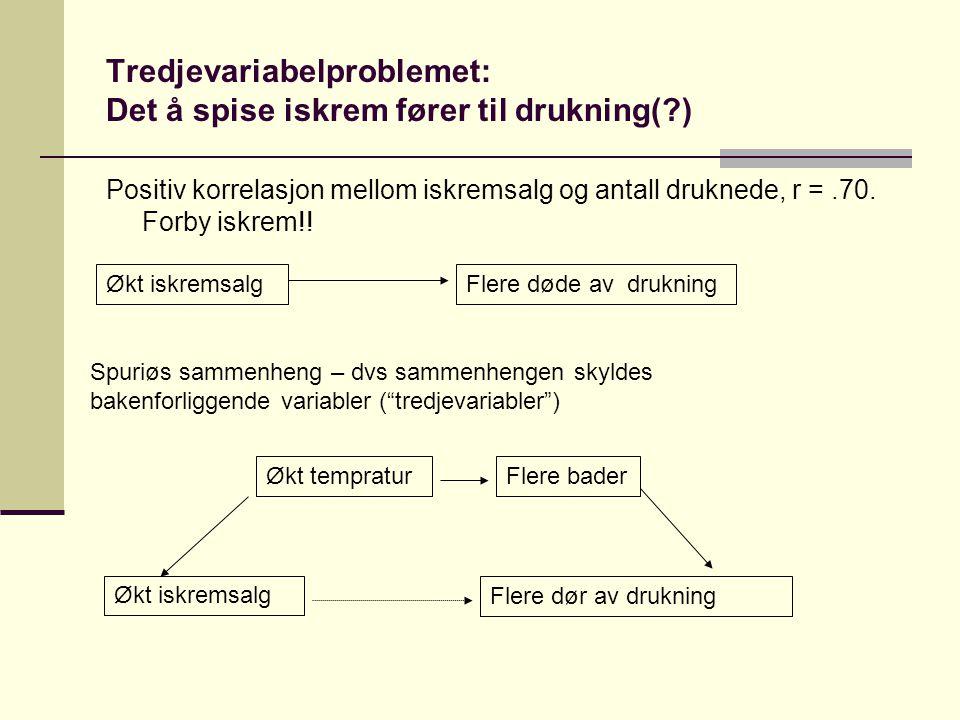 Tredjevariabelproblemet: Det å spise iskrem fører til drukning( )