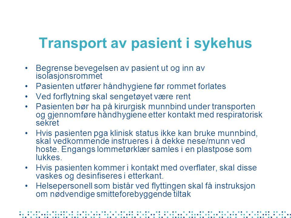 Transport av pasient i sykehus