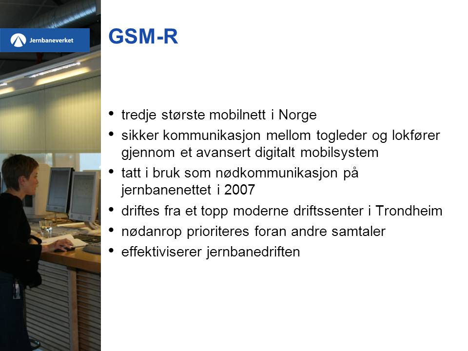 GSM-R tredje største mobilnett i Norge