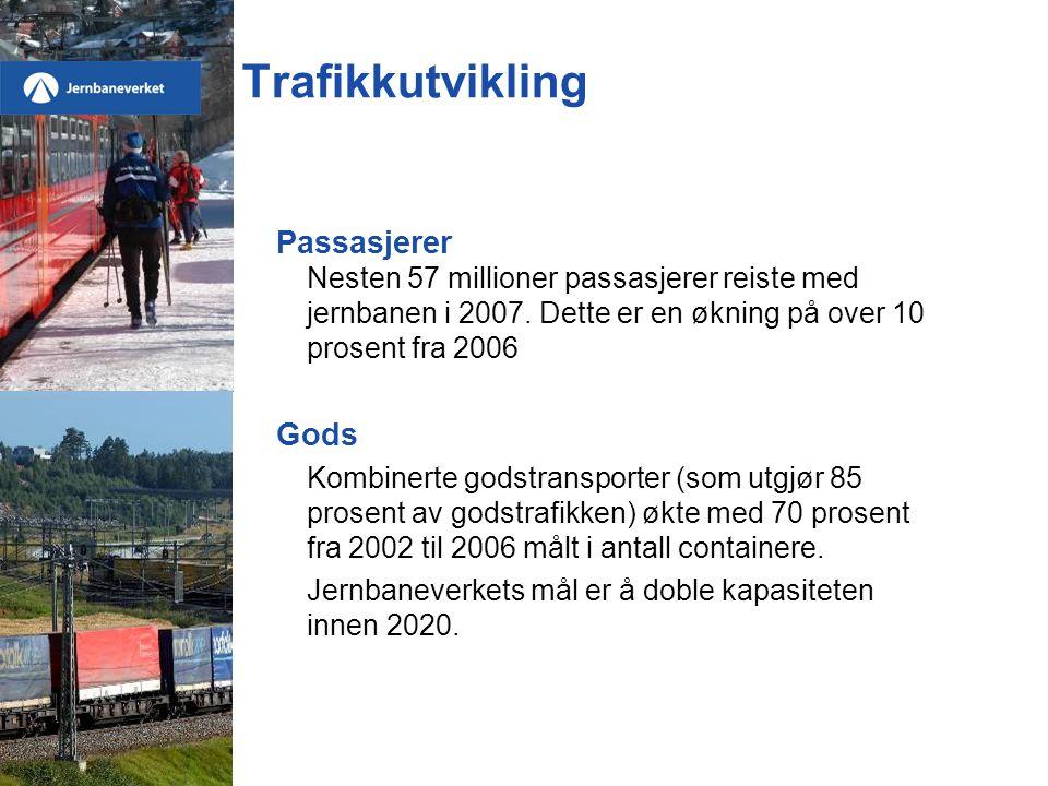 Trafikkutvikling Passasjerer Gods