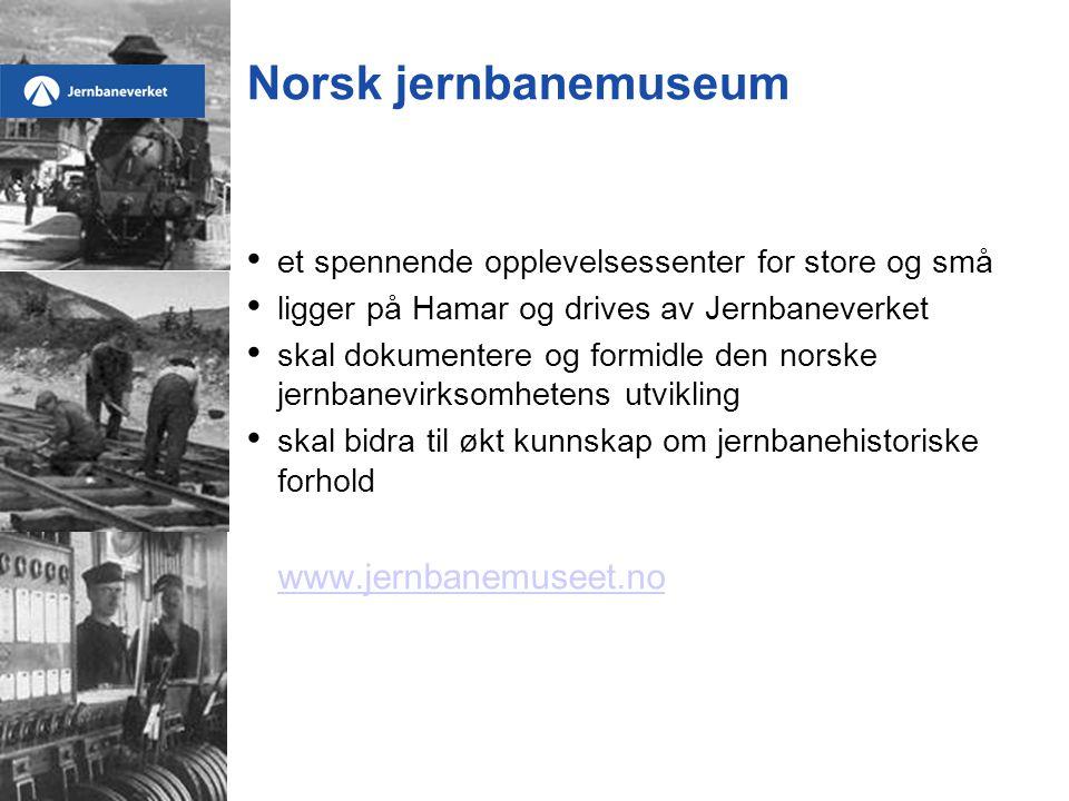Norsk jernbanemuseum www.jernbanemuseet.no