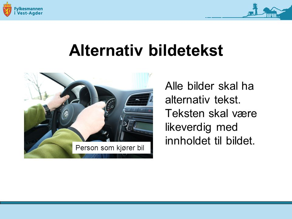 Alternativ bildetekst