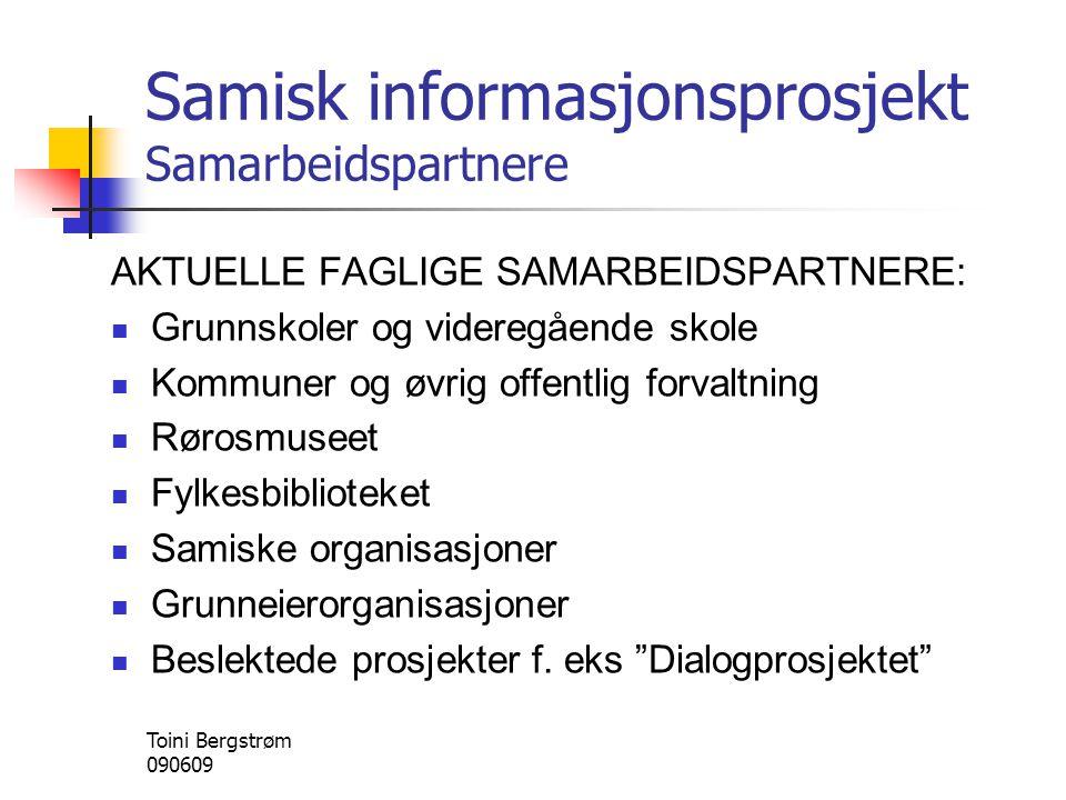 Samisk informasjonsprosjekt Samarbeidspartnere