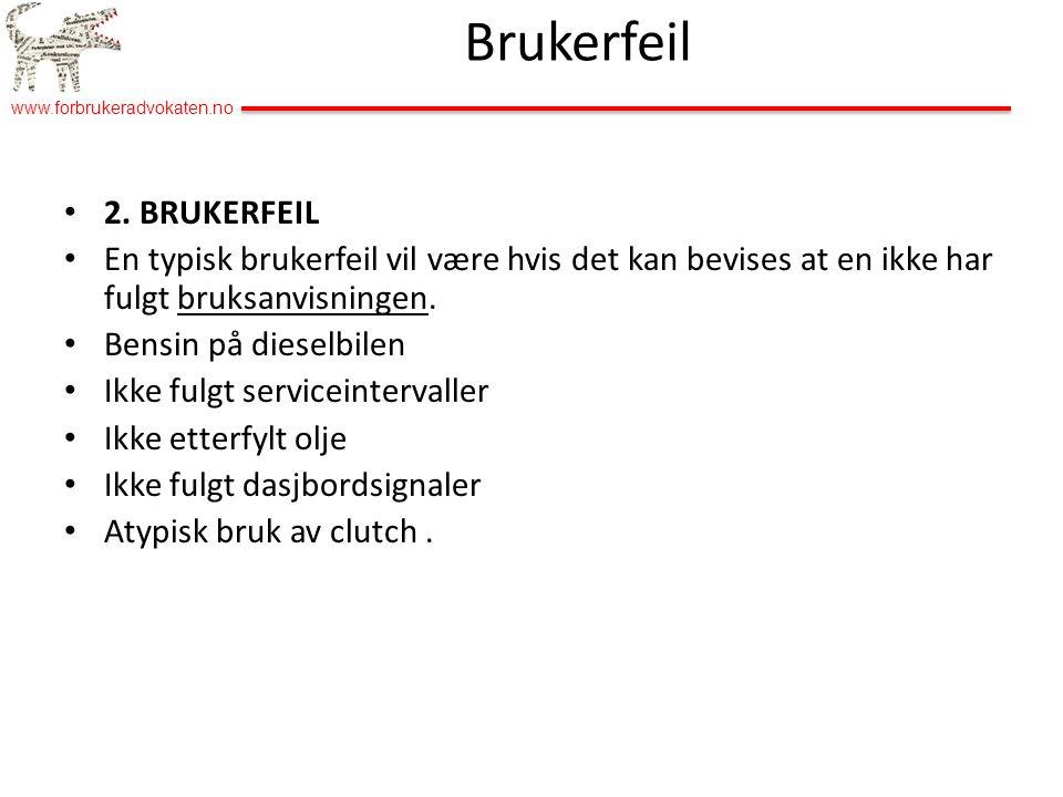 Brukerfeil 2. BRUKERFEIL