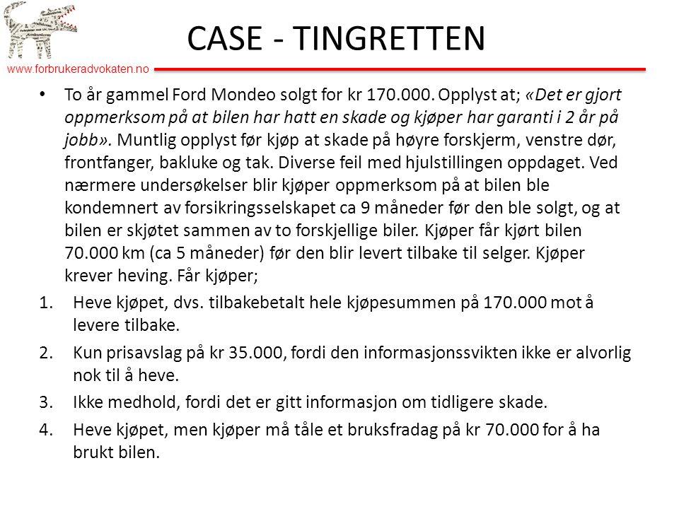 CASE - TINGRETTEN