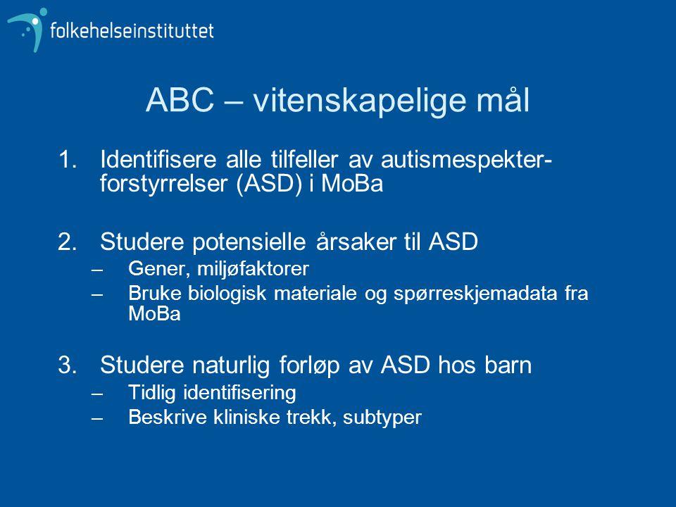 ABC – vitenskapelige mål