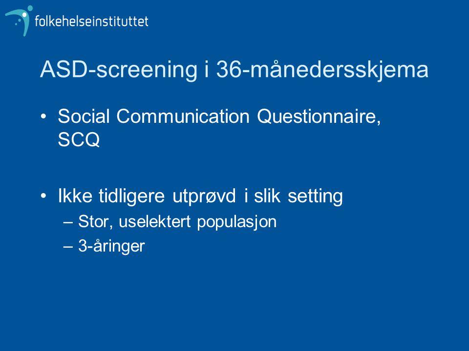 ASD-screening i 36-månedersskjema