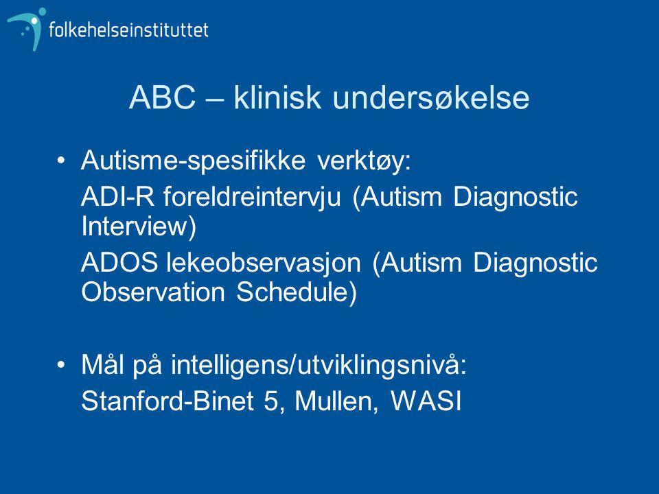 ABC – klinisk undersøkelse