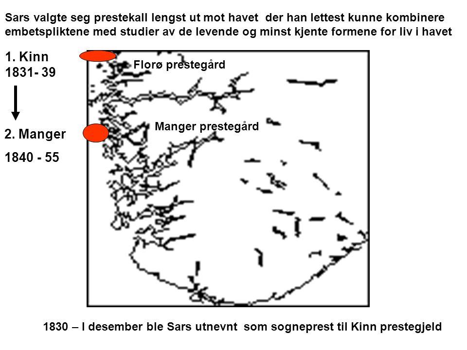 Sars valgte seg prestekall lengst ut mot havet der han lettest kunne kombinere