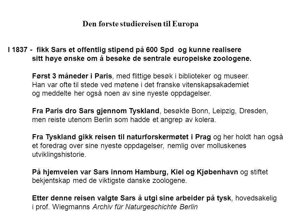 Den første studiereisen til Europa