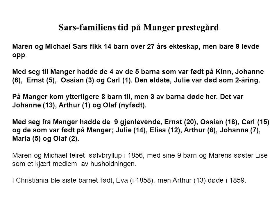 Sars-familiens tid på Manger prestegård