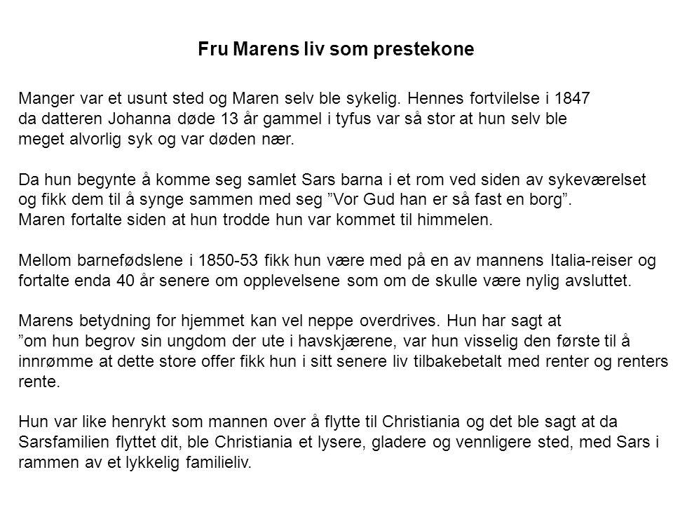 Fru Marens liv som prestekone