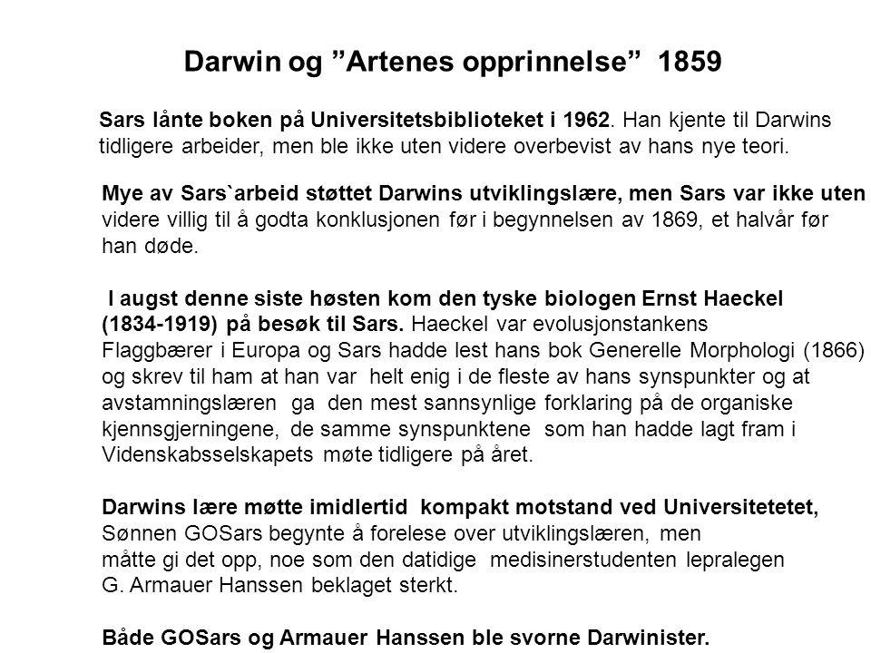 Darwin og Artenes opprinnelse 1859