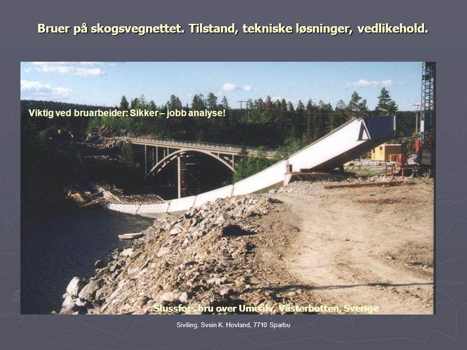 Bruer på skogsvegnettet. Tilstand, tekniske løsninger, vedlikehold.