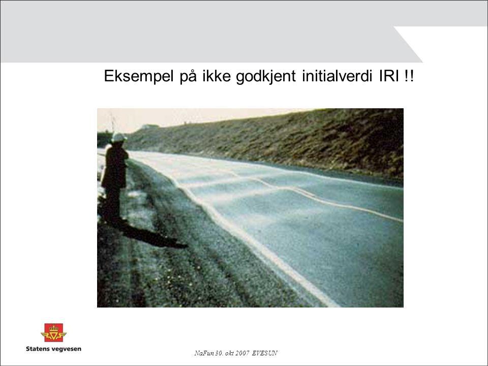 Eksempel på ikke godkjent initialverdi IRI !!