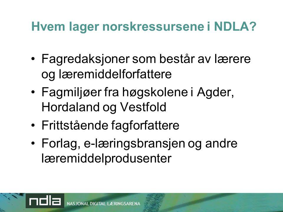 Hvem lager norskressursene i NDLA