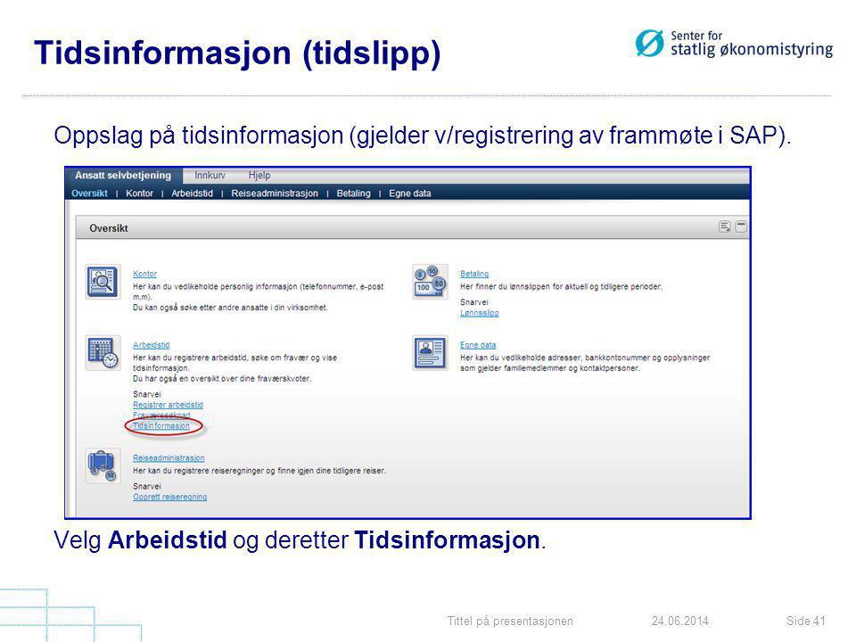 Tidsinformasjon (tidslipp)