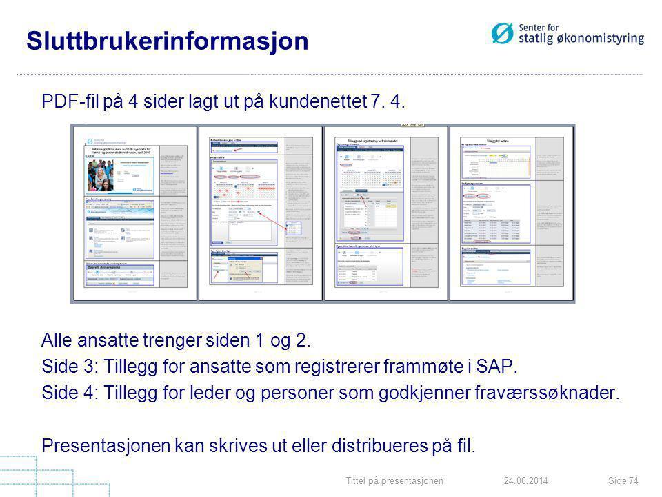 Sluttbrukerinformasjon