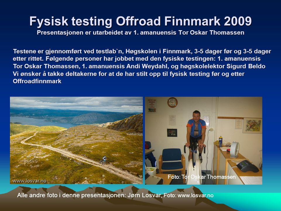 Fysisk testing Offroad Finnmark 2009 Presentasjonen er utarbeidet av 1