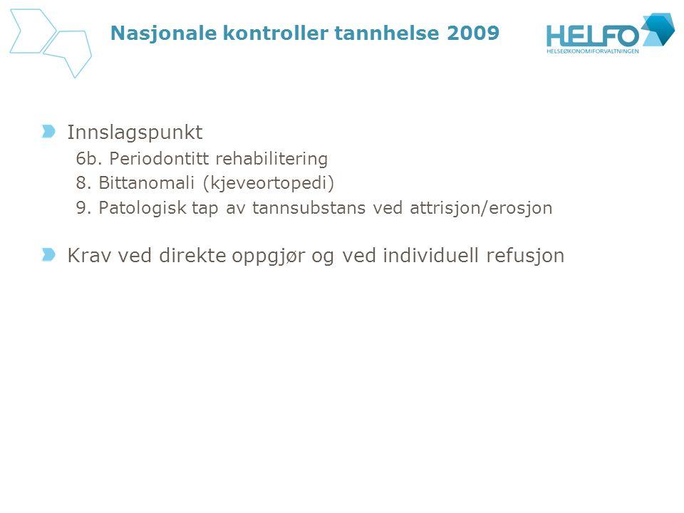 Nasjonale kontroller tannhelse 2009