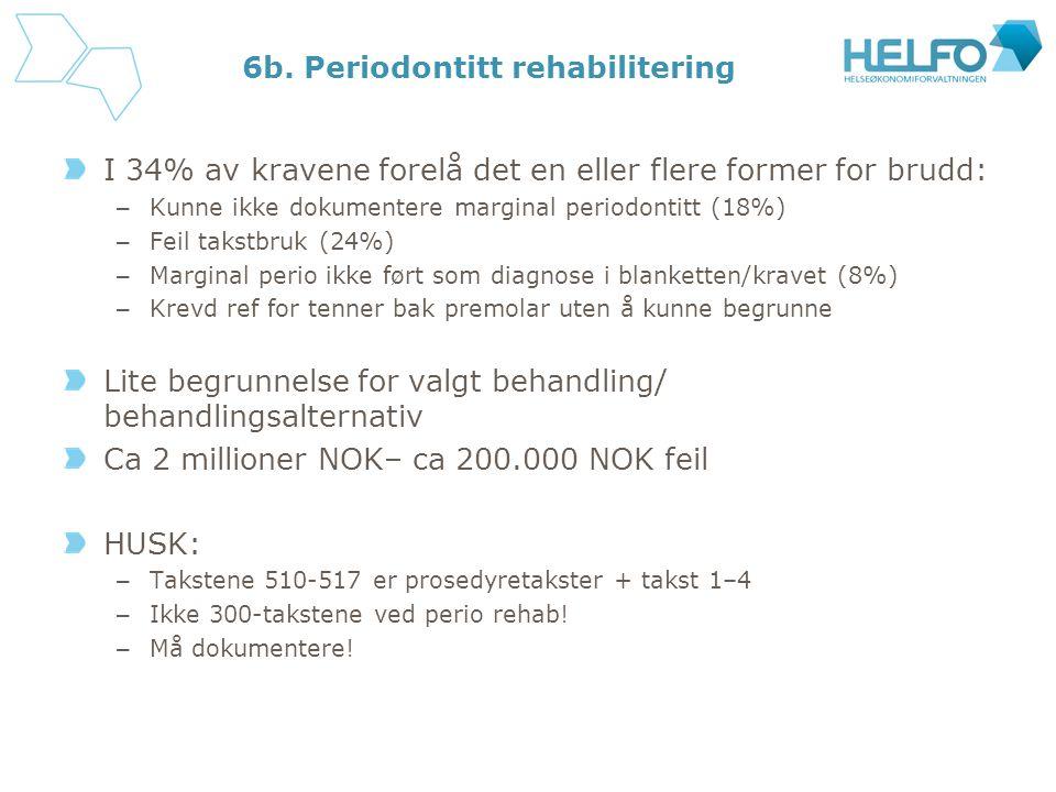 6b. Periodontitt rehabilitering