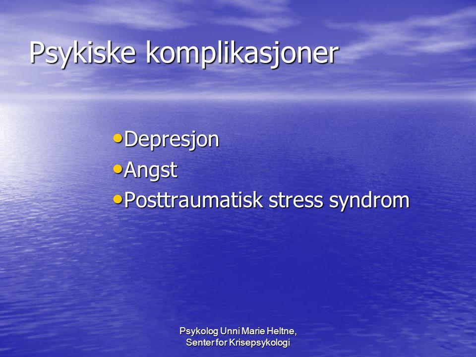 Psykiske komplikasjoner