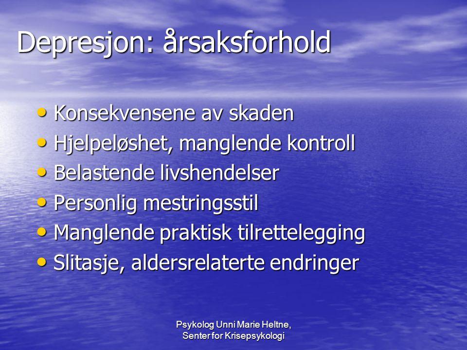 Depresjon: årsaksforhold