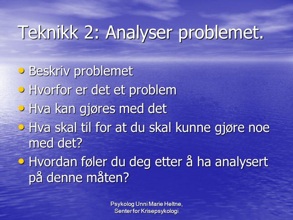 Teknikk 2: Analyser problemet.