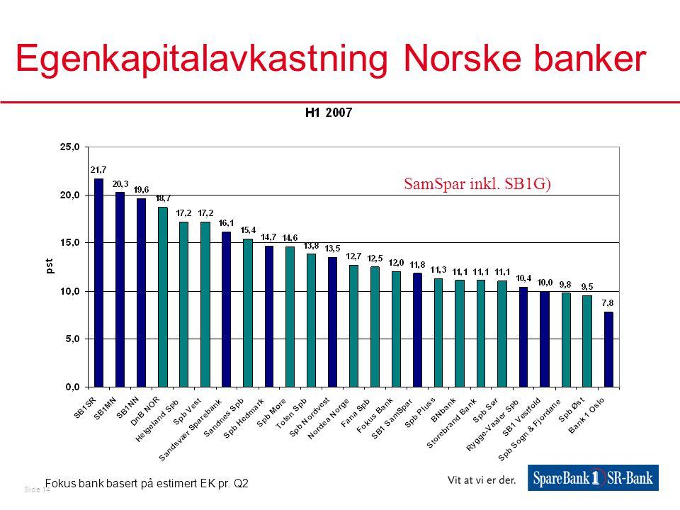 Egenkapitalavkastning Norske banker