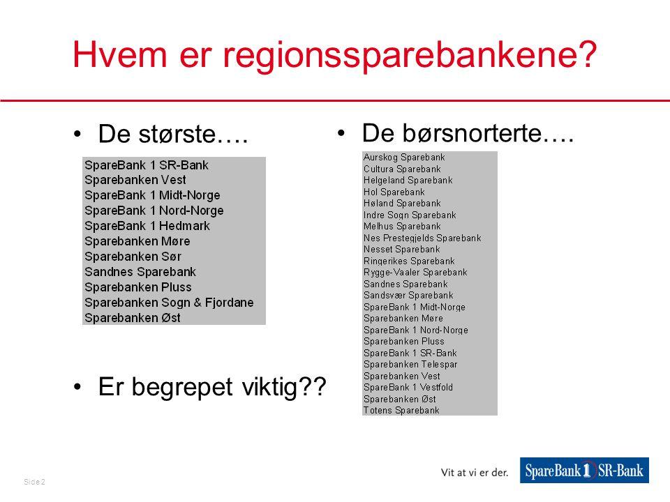 Hvem er regionssparebankene