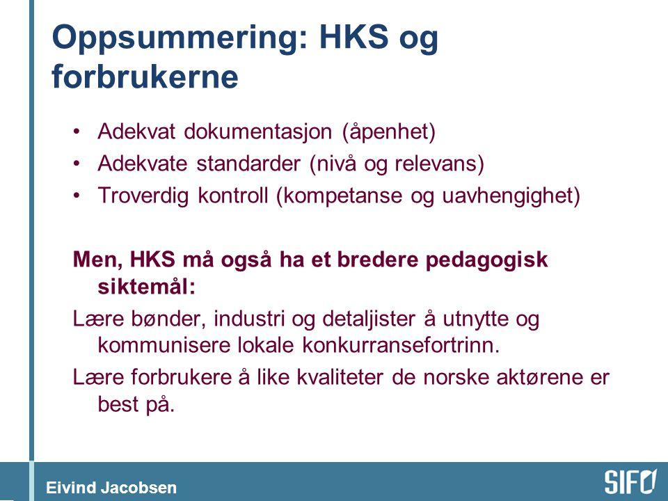 Oppsummering: HKS og forbrukerne