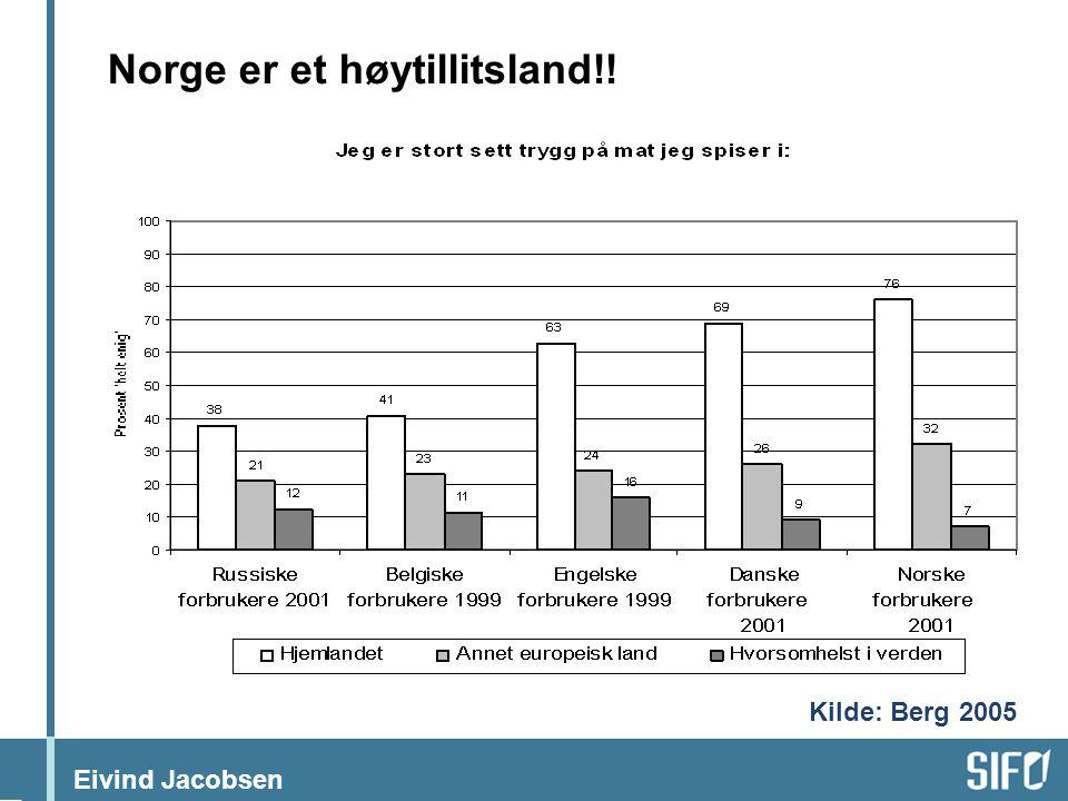 Norge er et høytillitsland!!