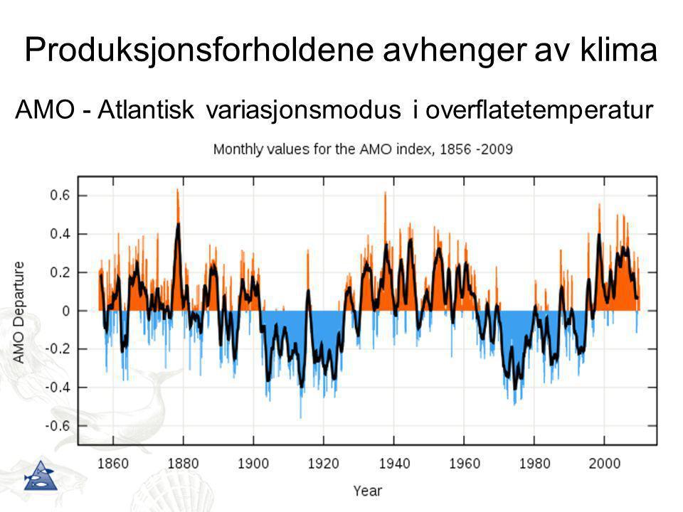 Produksjonsforholdene avhenger av klima