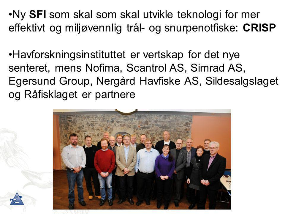 Ny SFI som skal som skal utvikle teknologi for mer effektivt og miljøvennlig trål- og snurpenotfiske: CRISP
