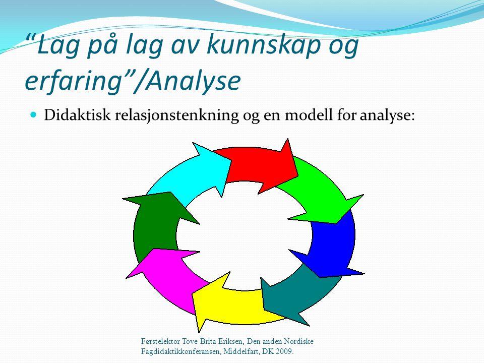 Lag på lag av kunnskap og erfaring /Analyse