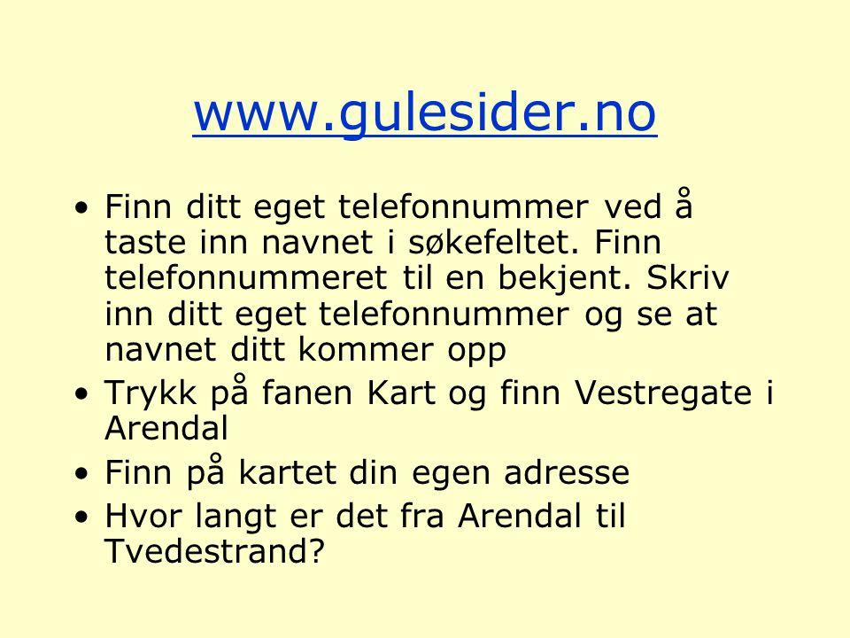 www.gulesider.no
