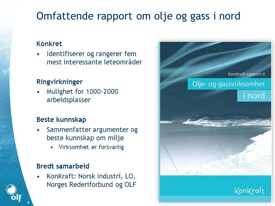 Omfattende rapport om olje og gass i nord