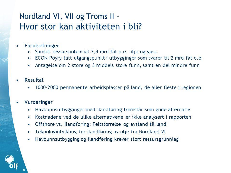 Nordland VI, VII og Troms II – Hvor stor kan aktiviteten i bli