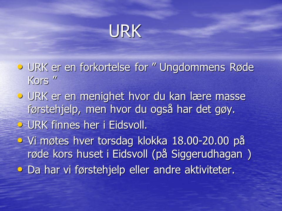 URK URK er en forkortelse for Ungdommens Røde Kors