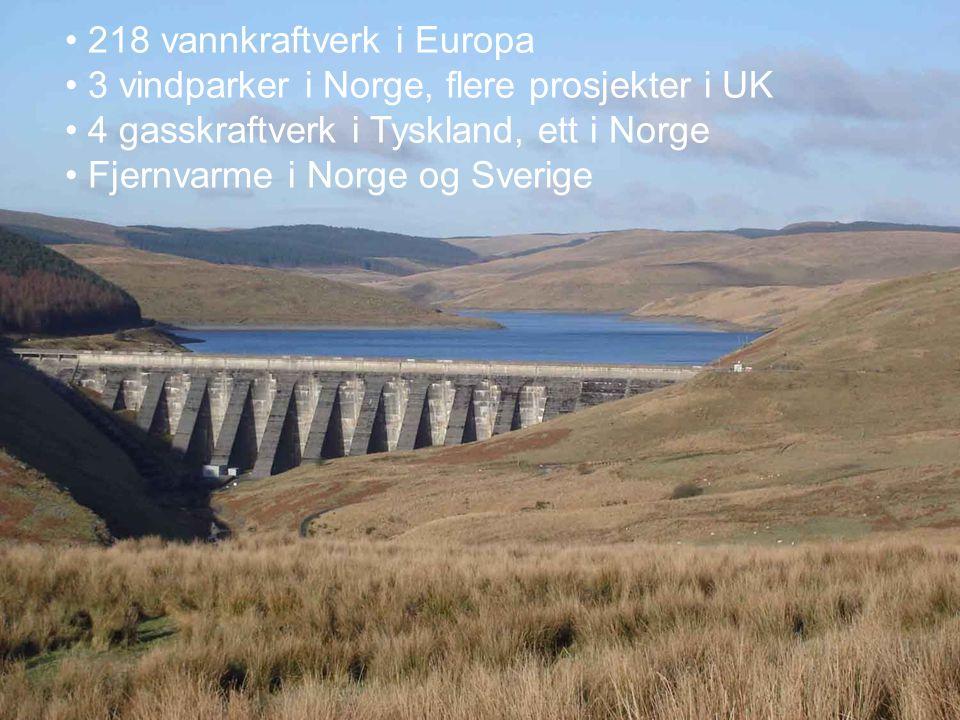 218 vannkraftverk i Europa