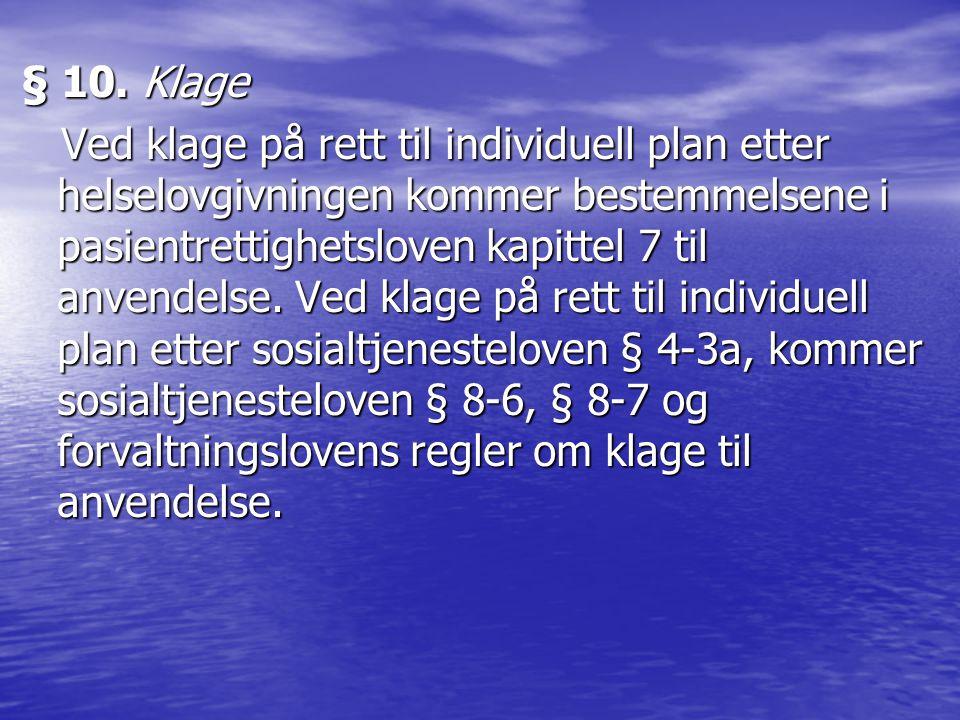 § 10. Klage