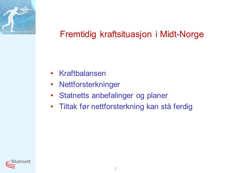 Fremtidig kraftsituasjon i Midt-Norge