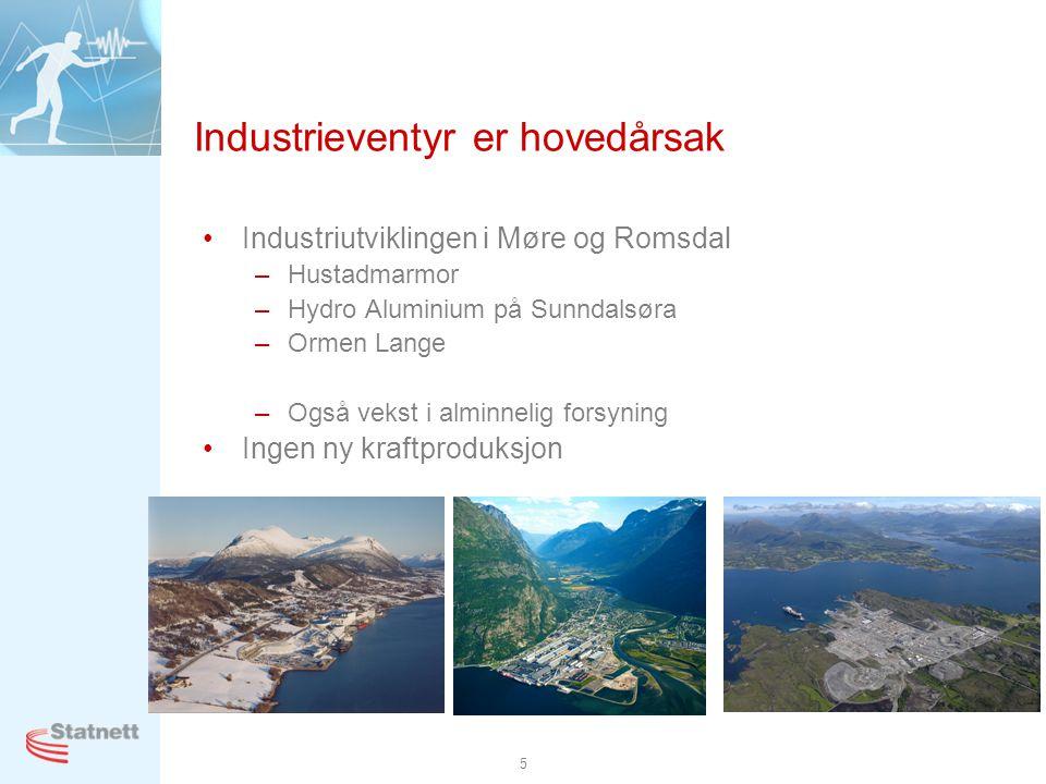 Industrieventyr er hovedårsak