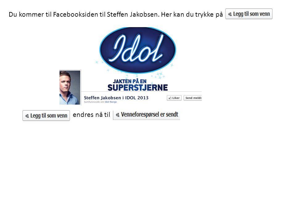 Du kommer til Facebooksiden til Steffen Jakobsen. Her kan du trykke på