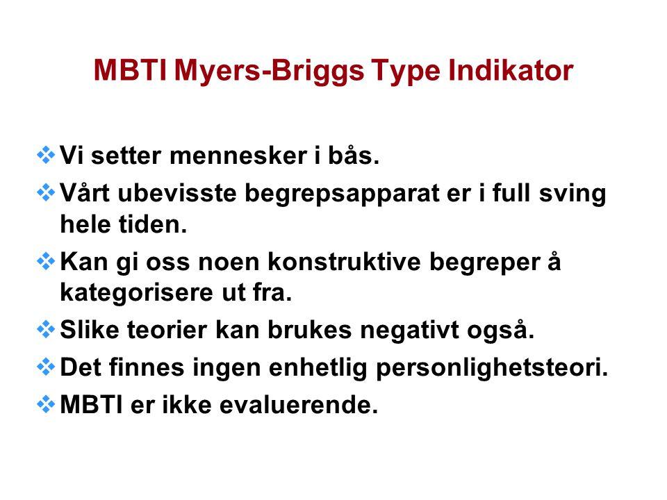 MBTI Myers-Briggs Type Indikator