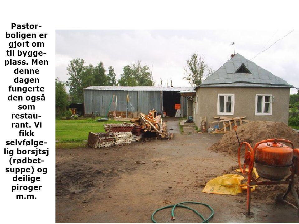 Pastor-boligen er gjort om til bygge-plass